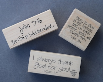 John 3:16, Scripture Stamps, For God so loved the world, Christmas, I thank God for you, glory to God in the highest! Papercrafting, Cards