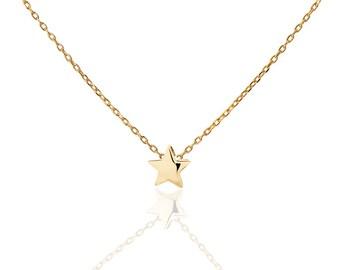 STAR NECKLACE - Small Star Necklace - Tiny Star Necklace - Bridesmaid Necklace - Bridesmaid Gift - minimal jewelry - minimal necklace