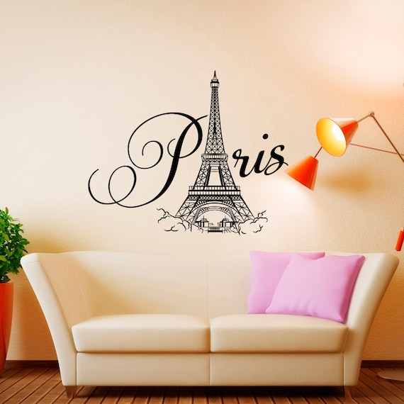Delightful Paris Wall Decal Vinyl Lettering Paris Bedroom Decor Paris