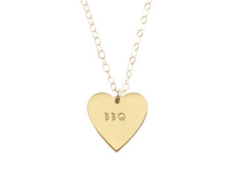 """My Heart Belongs To """"BBQ"""" Necklace - 1066"""