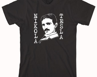 Nikola Tesla Shirt, best inventor ever, original geek, alternating current - ID: 667