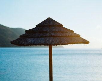 Beach Umbrella Photography, Greece Photo, Crete Photography, Sunrise Photo, Beach, Beach Photography, Sunrise Photography, Pebble Beach