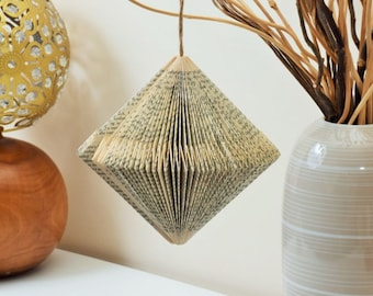 Folded Pendulum Book Art Ornament Hanging