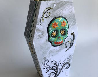 Sugar Skull Casket Carry Case
