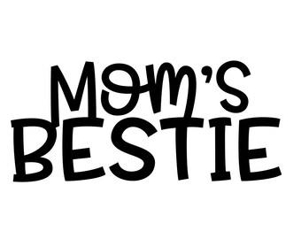 Mom's Bestie Monogram Addition for Dog Bandana- Matte, Glitter & HOLO Options