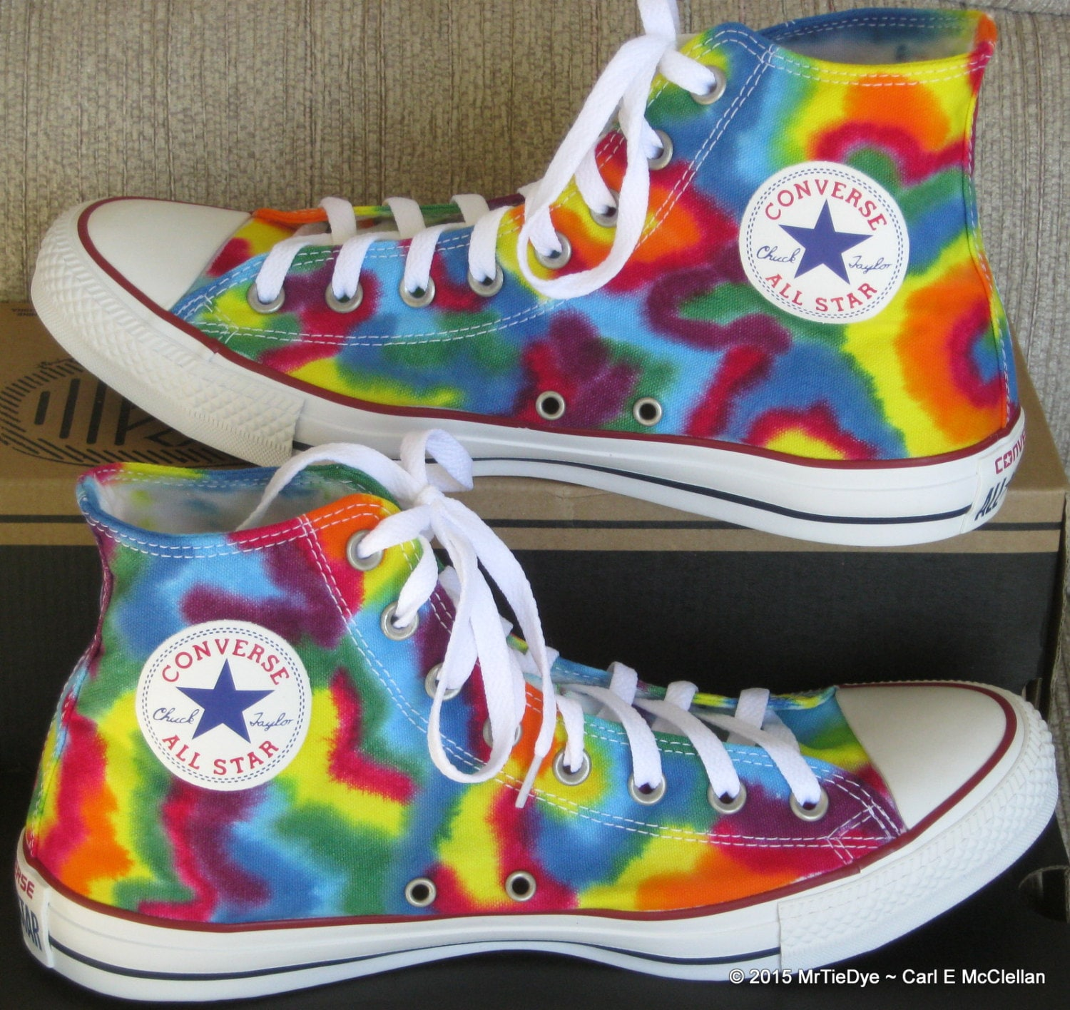 Converse Tye Dye High Tops