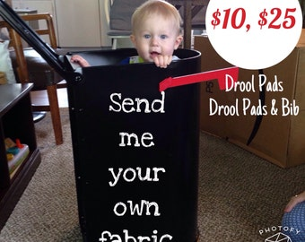 Send me your own fabric for a set of drool pads or for a full set of accessories drool pads and bib for your lillebaby complete carrier