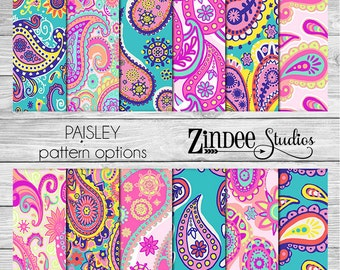 Patterned vinyl, paisley printed vinyl, adhesive vinyl, heat transfer vinyl, pattern heat transfer, printed HTV or ADHESIVE or GLITTER lily