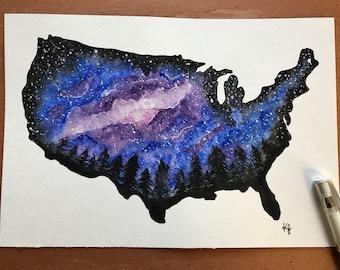 Original-USA Space Painting