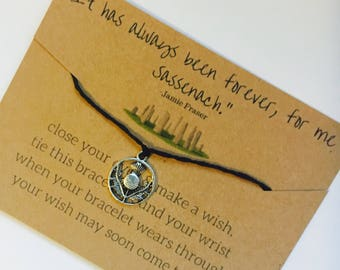 Outlander bracelet, outlander gift, jamie fraser quote gift, friendship bracelet, bridal gift, stocking stuffer, personalized bracelet