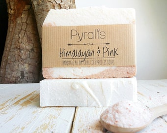 Pink Himalayan Soap, Salt Bar, Himalayan Salt Soap, Pink Clay Soap, Organic Soap, Palm Free Soap, Detox Soap, Cold Process Soap, Pink Clay