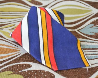 1960s Cotton Striped Necktie