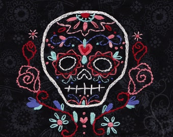 DIY Calavera Embroidery Pattern PDF download hand embroidery patterns designs