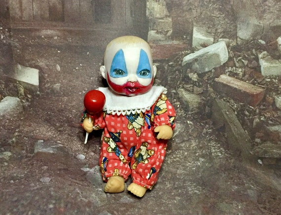 Mini Baby Pogo Dressed For Bed Serial Killer Culture Killer Clown Original Biohazard Baby