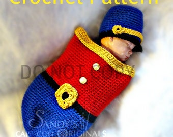 Toy Soldier Cocoon Set Crochet Pattern Inspired by the Nutcracker Ballet PDF 550