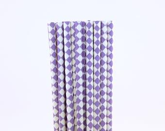 Lavender Diamond Paper Straws-Diamond Straws-Princess Straws-Sweet 16 Birthday Party Straws-Lavender Paper Straws-Lemonade Straws