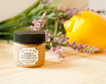 Lemon Lavender Lip Scrub - gift for her - mothers day -  all natural & vegan sugar lip polish -  2 in 1 scrub and balm