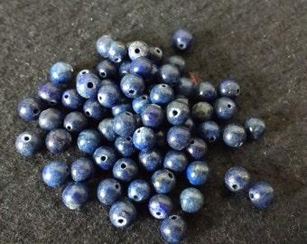 Vintage Lapis Lazuli 5mm Rounds