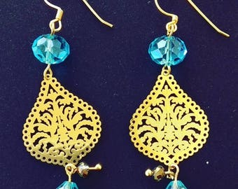 Earrings with Filigree charm.