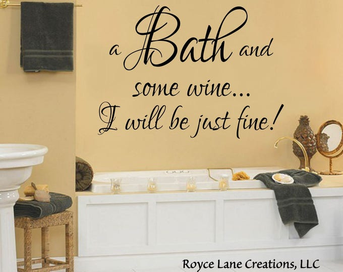 Bathroom Decals - RoyceLaneCreations LLC