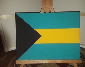 Bahamian Flag Canvas Art