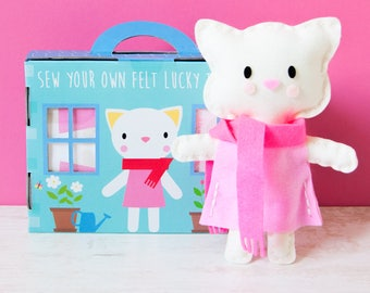 Wonderful DIY sewing kit: LUCKY the cat