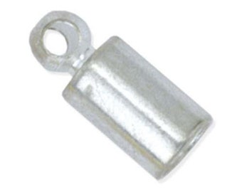 Cord Ends - 2.7mm - Silver Plated