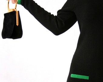 Raul Blanco - Saks Fifth Avenue - Knit Dress - Green and Black - Size Small