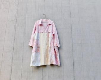Rosa Kleid, Tunika, Oster-Kleid, Upcycled Kleidung, Damen Kleid, Sommer, Upcycling Kleid, romantisch, Boho, CreoleSha Frühling