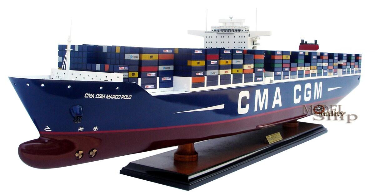 CMA CGM Marco Polo contenedor pantalla modelo de nave