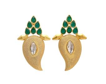 Antiqued Brass Earrings Brass Teardrop Earrings Brass handmade earrings gold earrings