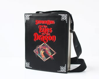 The Eyes of the Dragon Leather Book Bag Stephen King Book Purse