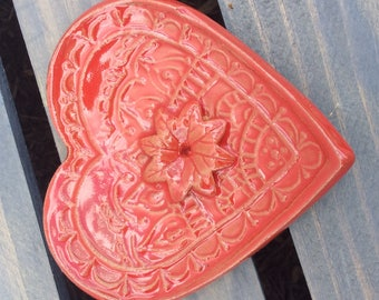 Red Heart Incense Burner