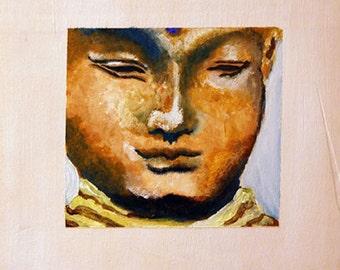 Buddah Art, Buddha Art, Budda Zen Meditation Wall Art/ Original Wall art Acrylic Painting/ Boho