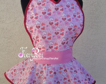 Valentine's Day Sweetheart Apron, Cute Apron, Sweetheart, Apron, Dinner Date, Kawaii
