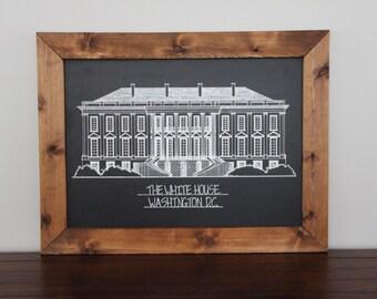The White House Framed in Cedar