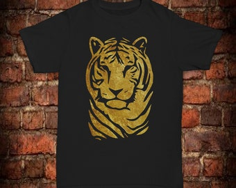 Mens gold Tiger T-Shirt