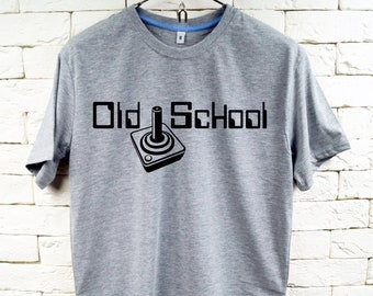 Old School Gamer Gray T-Shirt For Men