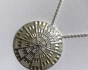 Sterling Silver Disk pendent