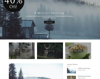 40% OFF! Instinct - Blog & Portfolio WordPress Theme (live preview below)