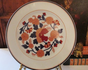 Vintage Large Fitz and Floyd Plate, Chinoiseire Mum Plate, Hollywood Regency, Wall Decor, Gallery Wall, Japanese Porcelain