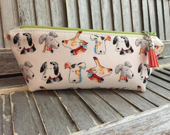 Dog Face Pencil Pouch Marker Journaling Storage Bag