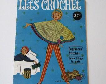 Vintage Beginner Crochet Book 1960s American Thread Company