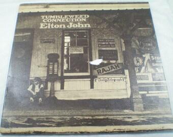 Elton John vinyl, Tumbleweed Connection, vintage vinyl, 1970s, LP, retro 70s, love songs, ballads, vintage record, classic rock, pop rock