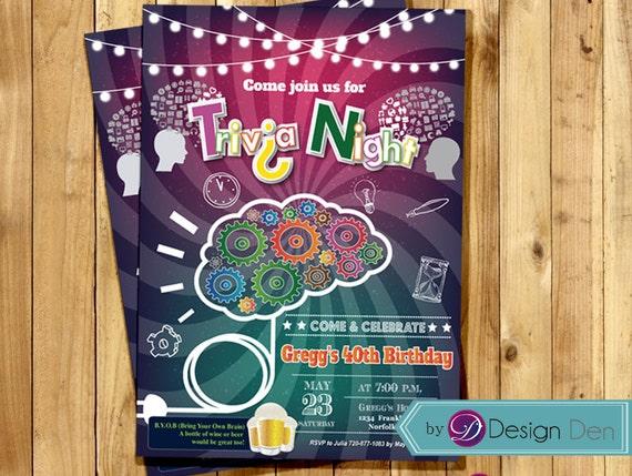 Trivia night invitation game party invite trivia nights free trivia trivia night invitation game party invite trivia nights stopboris Gallery