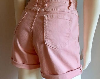 Vintage Women's 80's Pink, Lee Jean Shorts, High Waisted, Denim (M)