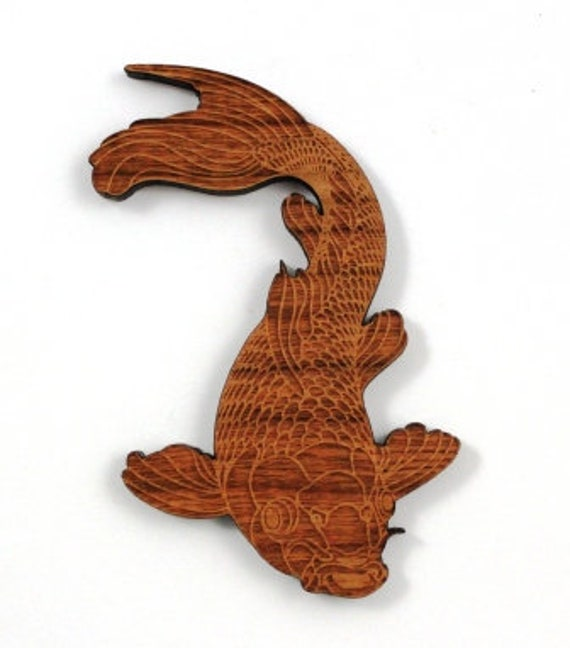 Laser Cut Supplies-1 Piece Koi Fish Charms-Acrylic and Wood Laser Cut-Jewelry Supplies-Little Laser Lab Wood and Acrylic Products