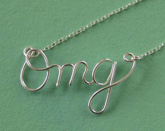 Omg initial necklace