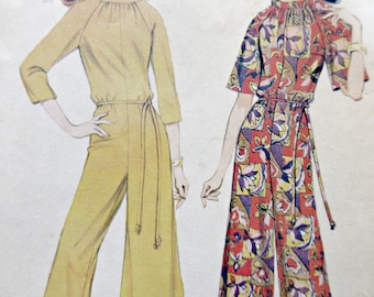 Vintage McCall's 8883 Sewing Pattern, 1960s Jumpsuit Pattern, Bust 36, Pantdress Pattern, 60s Sewing Pattern, Raglan Sleeves Standing Collar