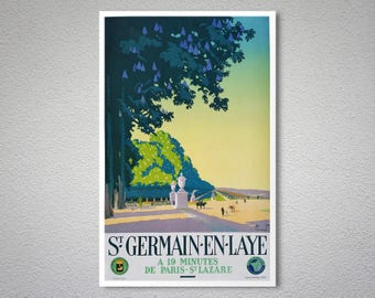 Saint Germain en Laye Vintage Travel Poster  - Poster Paper, Sticker or Canvas Print / Gift Idea
